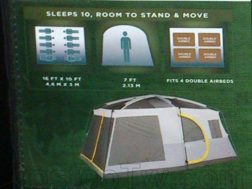 Coleman 16' x 10' 10 Person Weathermaster II Screened Tent 009