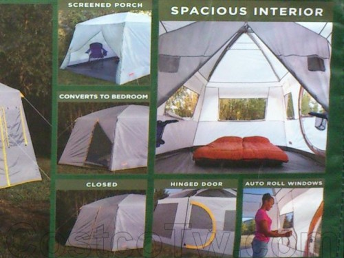 Coleman 16' x 10' 10 Person Weathermaster II Screened Tent 010