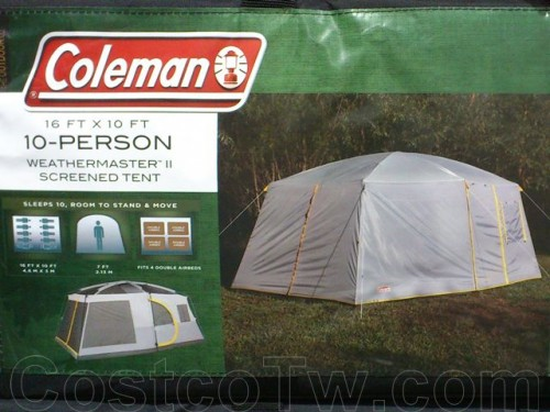Coleman 16' x 10' 10 Person Weathermaster II Screened Tent 012